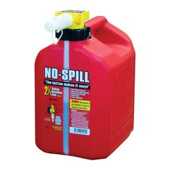 Click here to see No-Spill 1405 No-Spill 1405 Gas Can, 2.5 gal, 13-1/2 in H, Plastic, Red