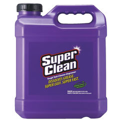Click here to see Super Clean 101724 Super Clean 101724 Industrial Strength Cleaner/Degreaser, 2-1/2 gal, Jug, Purple, Clear Liquid