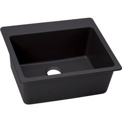 Click here to see Elkay ELX2522CH0 Elkay ELX2522CH0 Quartz Luxe Single Bowl Drop-in Sink, Charcoal