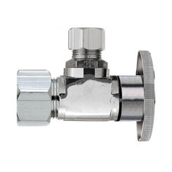 Click here to see Plumb Pak PP20061LF Plumb Pak PP20061LF 1/4 Turn Angle Shut-Off Valve, 5/8 X 3/8 in, OD X OD, Brass Body, Chrome Plated