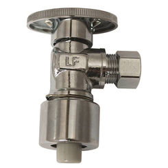 Click here to see Plumb Pak PP2622POLF Plumb Pak PP2622POLF 1/4 Turn Push-Fit Quick Lock Angle Stop Valve, 1/2 X 3/8 in, OD, Brass Body