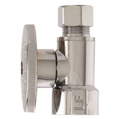 Click here to see Plumb Pak PP53PCLF Plumb Pak PP53PCLF 1/4 Turn Straight Shut-Off Valve, 1/2 X 3/8 in, FIP X OD, Brass Body, Chrome Plated