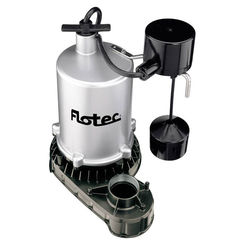 Click here to see Flotec FPZT7450 Flotec FPZT7450 High Output Submersible Sump Pump With Vertical Float Switch, 6360 gph, 3/4 hp