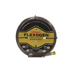 Click here to see Gilmour 1058100 Flexogen 10 Lightweight Garden Hose With Full -Flo Machined Metal Couplings, 5/8 in ID, 100 ft L