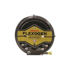 Click here to see Gilmour 10034025 Gilmour 10034025 Flexogen Garden Hoses, All-Weather, Rubber, 3/4 Inch x 25 Foot
