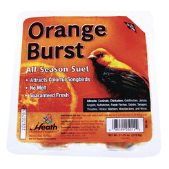 Click here to see Heath DD-14 Heath Outdoor DD-14 All Season Orange Burst Suet Cake, 11.25 oz