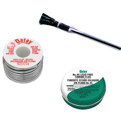Click here to see Oatey 50683 Safe-Flo 50683 Wire Solder Kit, 0.25 lb Carded, Solid, Silver Gray