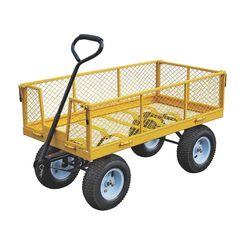 Click here to see Vulcan TC4205EG Vulcan TC4205EG Garden Cart, 48 in L x 24 in W, 1200 lb, Heavy Gauge Steel, Pull Handle