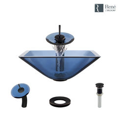Click here to see Elkay R5-5003-CEL-WF-ABR Rene By Elkay R5-5003-CEL-WF-ABR Celeste Colored Glass Vessel Sink Kit