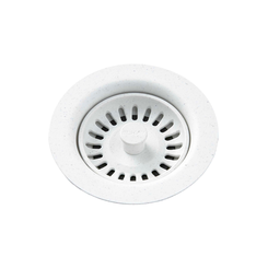 Click here to see Elkay LKQS35WH Elkay Polymer Drain Fitting with Removable Basket Strainer and Rubber Stopper White - LKQS35WH