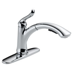 Click here to see Delta 4353-DST Delta 4353-DST Linden Single Handle Pull-Out Kitchen Faucet (Chrome)