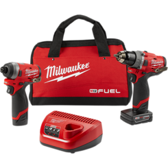 Click here to see Milwaukee  Milwaukee 2598-22 M12 FUEL Hammer Drill and Hex Impact Driver Combo