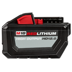 Click here to see   Mikwaukee 48-11-1812 M18 Redlithium High Output HD12.0 Battery Pack
