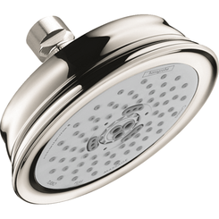 Click here to see Hansgrohe 04333830 Hansgrohe 04333830 Croma 100 Classic 3-Jet Showerhead, Polished Nickel