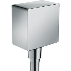 Click here to see Hansgrohe 26455001 Hansgrohe 26455001 FixFit Wall Outlet Square with Check Valve, Chrome