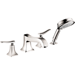 Click here to see Hansgrohe 31312831 Hansgrohe 31312831 Metris C 4-Hole Roman Tub Set Trim with Handshower, Polished Nickel
