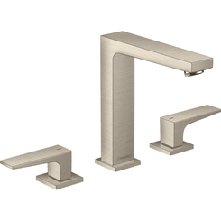 Click here to see Hansgrohe 32519821 Hansgrohe 32519821 Metropol 160 Widespread Faucet with Lever Handles, Brushed Nickel