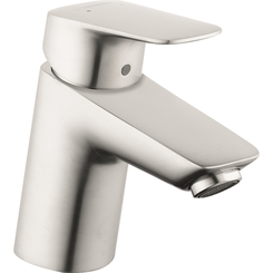 Click here to see Hansgrohe 71070821 Hansgrohe 71070821 Logis Single-Hole Faucet 70 with Pop-Up Drain, Brushed Nickel