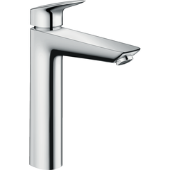 Click here to see Hansgrohe 71090001 Hansgrohe 71090001  Logis Single-Hole Faucet 190 with Pop-Up Drain, Chrome