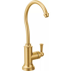 Click here to see Moen S5510BG Moen S5510BG Sip Traditional One-Handle High Arc Beverage Faucet, Brushed Gold