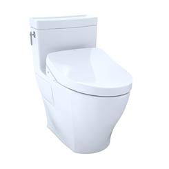 Click here to see Toto MW6263056CEFGA#01 TOTOWASHLET+  Aimes One-Piece Elongated 1.28GPF Toilet with Auto Flush S550e Bidet Seat, Cotton White - MW6263056CEFGA#01