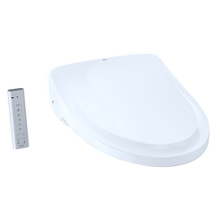 Click here to see Toto SW3044AT40#01 TOTO S500e WASHLET+ and Auto Flush Ready Electronic Bidet Toilet Seat with EWATER+ and Classic Lid, Elongated, Cotton White - SW3044AT40#01