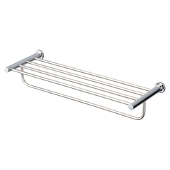 Click here to see Toto YTS406BU#CP TOTO L Series Round Towel Shelf with Hanging Bar, Polished Chrome - YTS406BU#CP