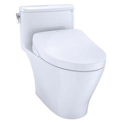 Click here to see Toto MW6423046CEFGA#01 TOTO WASHLET+ Nexus One-Piece Elongated 1.28 GPF Toilet with Auto Flush S500e Contemporary Bidet Seat, Cotton White - MW6423046CEFGA#01