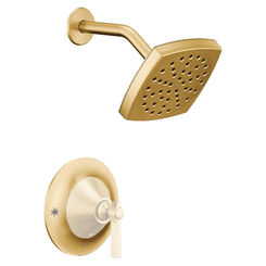 Click here to see Moen TS2912NHBG Moen TS2912NHBG Flara Posi-Temp Shower Trim Only, Brushed Gold, Less head