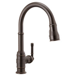 Click here to see Delta 9190-RB-DST Delta 9190-RB-DST Broderick One Handle Pulldown Kitchen Faucet, Venetian Bronze