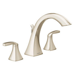 Click here to see Moen T693NL Moen T693NL Voss Two-Handle High Arc Roman Tub Faucet , Polished Nickel