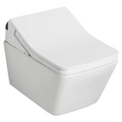 Click here to see Toto CT447CFGT60#01 TOTO RP WASHLET+ Wall-Hung Toilet Bowl 1.28 and 0.9 GPF with CEFIONTECT, Cotton White - CT447CFGT60#01