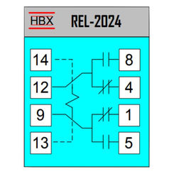 Click here to see HBX REL-2024 HBX REL-2024 DPDT Relay 24V Coil 10A