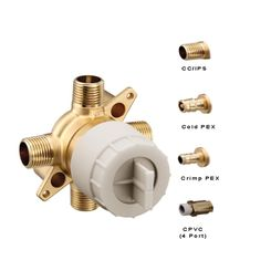Click here to see Moen U140CX-PF Moen U140CX-PF M-CORE Tub/Shower Rough In Valve Prefab, WIRSBO Connection