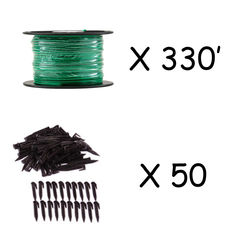 Click here to see   BOUNDARY EXTENSION KIT 100M-WIRE 100M (330ft) BOUNDARY WIRE ROLL AND 50 STAKES