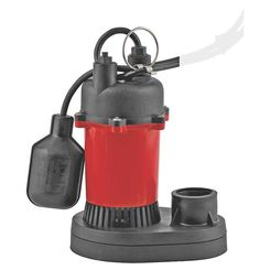 Click here to see Red Lion RL-SP25T Little Giant RL-SP25T Submersible Sump Pump With Tethered Float Switch, 540 gph, 1/4 hp