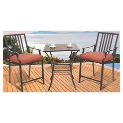 Click here to see Seasonal Trends 08D13UO2J33CJ Pride Family Brands XD6308D13UO2J33CJ Cushioned Balcony Dining Set