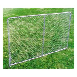 Click here to see SPS Fence DKS01006 spsfence DKS01006 Economy Bent Extension Kennel Panel, 10 ft Length X 6 in Height, Steel