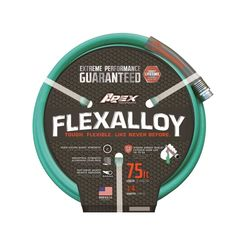 Click here to see Teknor 9550-75 FLEXALLOY 9550-75 Heavy Duty Garden Hose, 3/4 in x 75 ft, 500 psi
