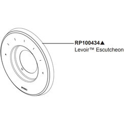 Click here to see Brizo RP100434PN Brizo RP100434PN Sensori Valve Trim Escutcheon -  Polished Nickel