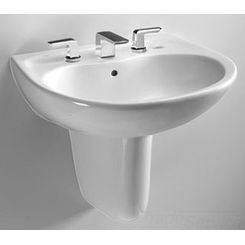 Click here to see Toto LHT242.8G#11 Toto LHT242.8G Colonial White Prominence Wall Mount Lavatory 8