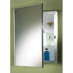 Click here to see Jensen 478FS Jensen 478FS Basic Styleline Recess 16W x 26H Stainless Steel Mirrored Single Cabinet