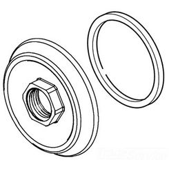 Click here to see Delta RP72725 DELTA RP72725 PART SPOUT FLANGE & GASKET CHROME