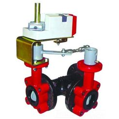 Click here to see Honeywell VFF3TV1YDS Honeywell VFF3TV1YDS 3-Way 18-Inch Resilient Seat Butterfly Valve