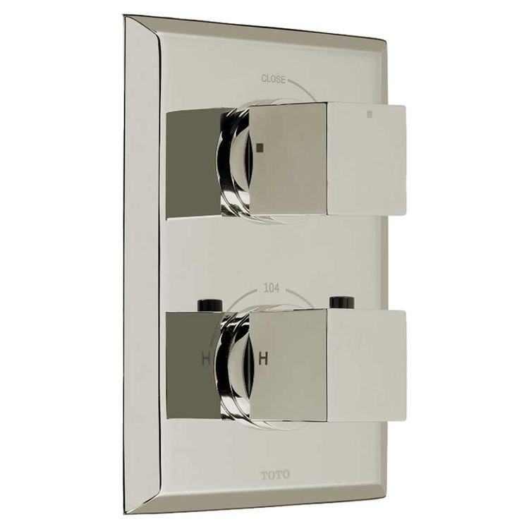 Toto TS930C#PN Toto TS930C#PN Polished Nickel Lloyd Thermostatic Mixing Valve Trim, Single Control