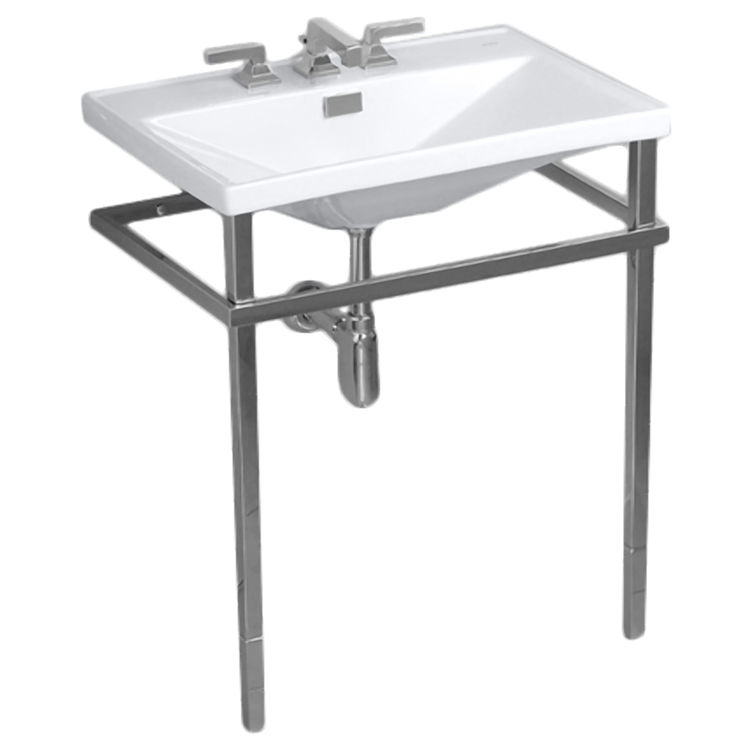 Toto LF930.8WCPN#11 TOTO LF930.8WCPN#11 Colonial White Lloyd Metal Console Lavatory