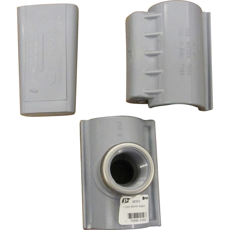 VFSATT1121 421510 11/2  x 1 FIPT PVC CLAMP SADDLE