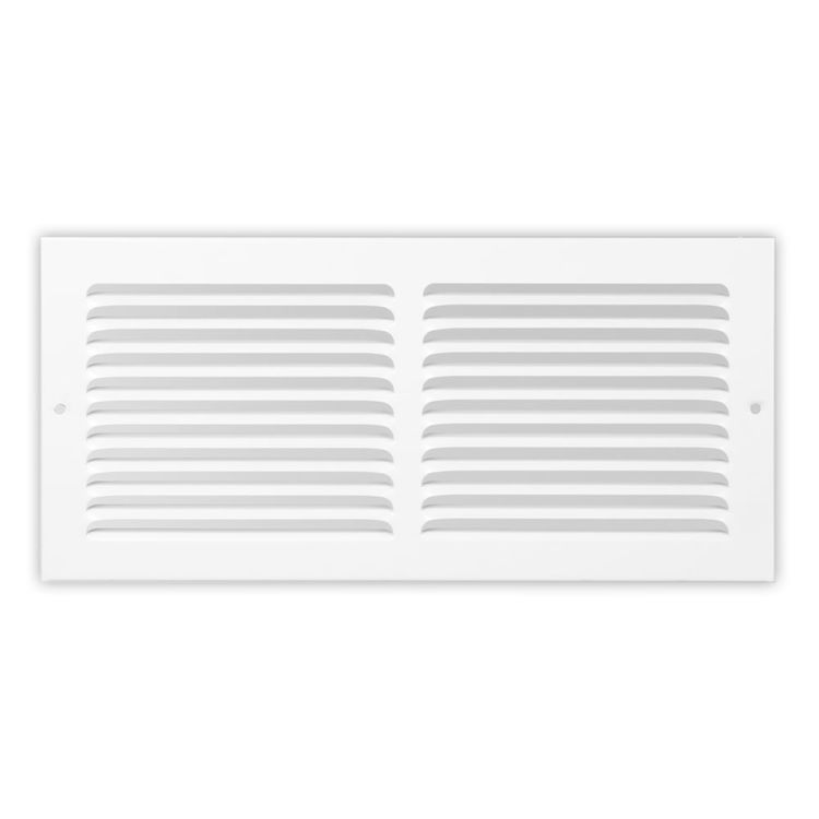 View 2 of Shoemaker 1150-30X10 30x10 Soft White Baseboard Return Air Grille (Steel) - Shoemaker 1150