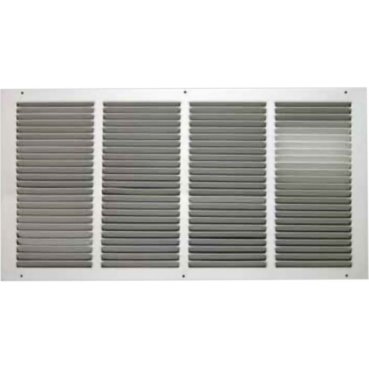 View 2 of Shoemaker 1050-30X10 30x10 Soft White Return Air Grille (Stamped from Cold Roll Steel) - Shoemaker 1050