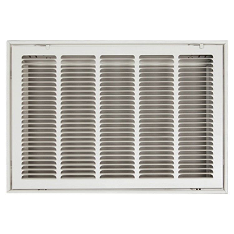 View 2 of Shoemaker FG4-16X16 16X16 Soft White Stamped Face 4 Inches Filter Grille (Steel) - Shoemaker FG4